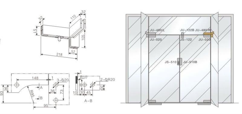 Glass Door Detail : Manufacturer glass door hardware fittings with pivot