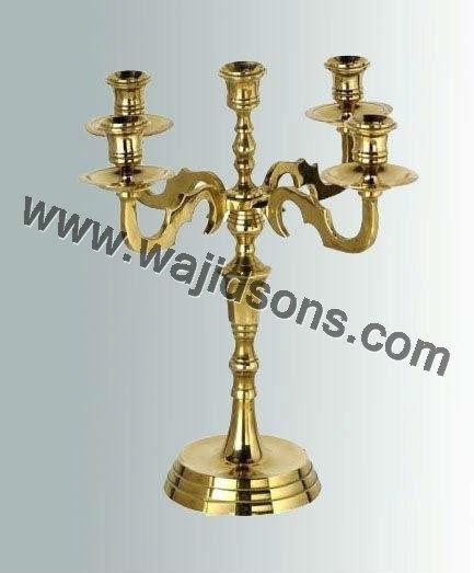 Tall Metal Pillar Candle Holders : Tall votive candle holders vintage candelabra metal