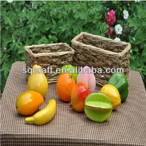 Artificial banana yellow fruit bananas decorative fake for Artificial fruit decoration