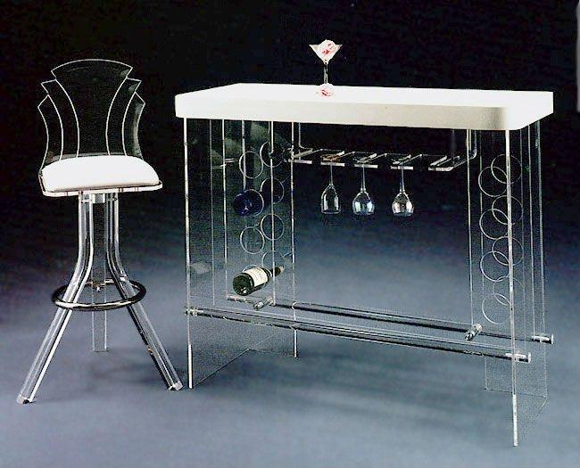 Tiffany Acrylic Bar Table Wine