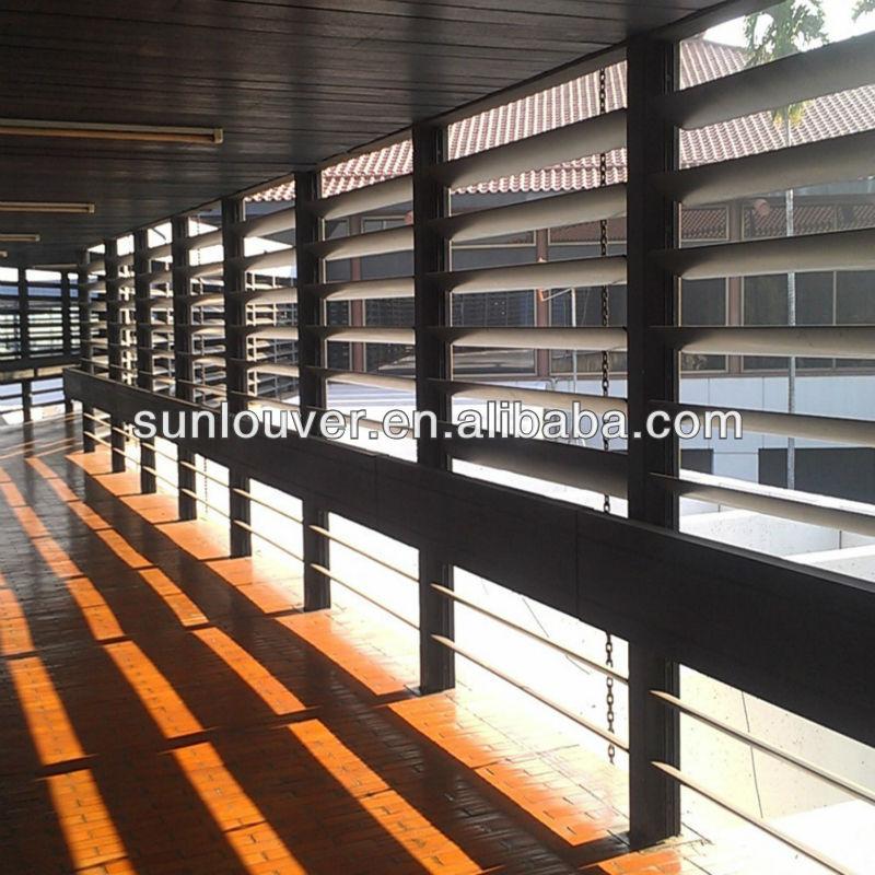 Aerofoil Aluminum Louvers For Corridor With Olive Shape