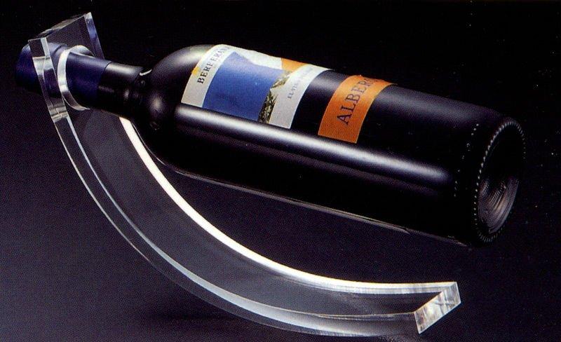 Seesaw Acrylic Single Wine Bottle Display Holder Rack