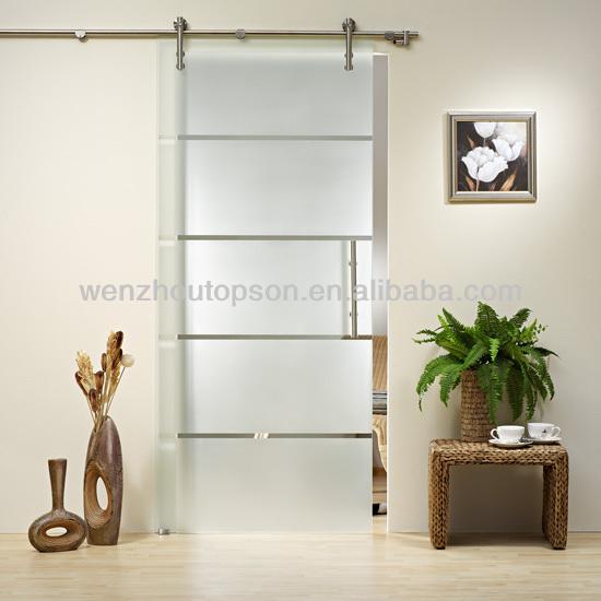 Diy glass sliding partition door morden barn door - Puertas de aluminio con cristal ...