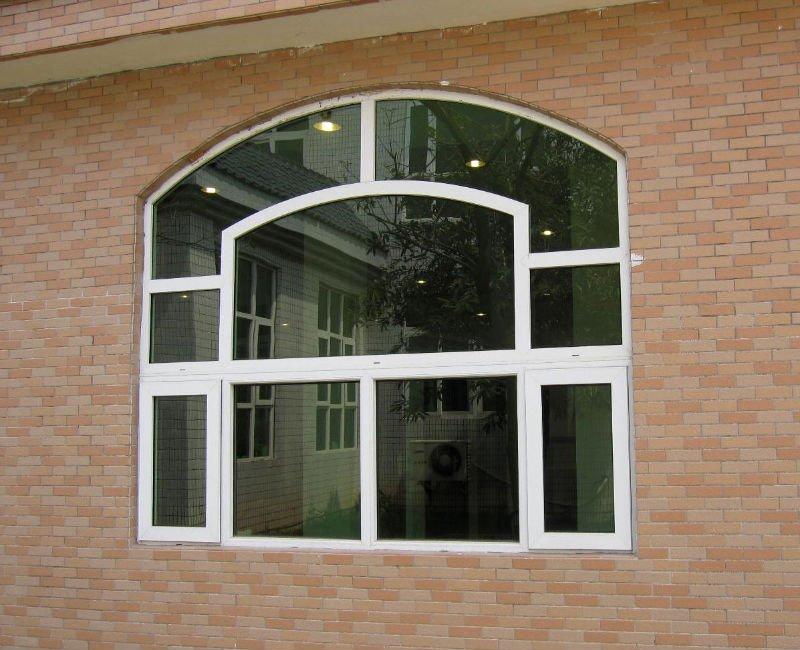 Fixed Arch Windows : Green tinted glass window aluminum fixed windows