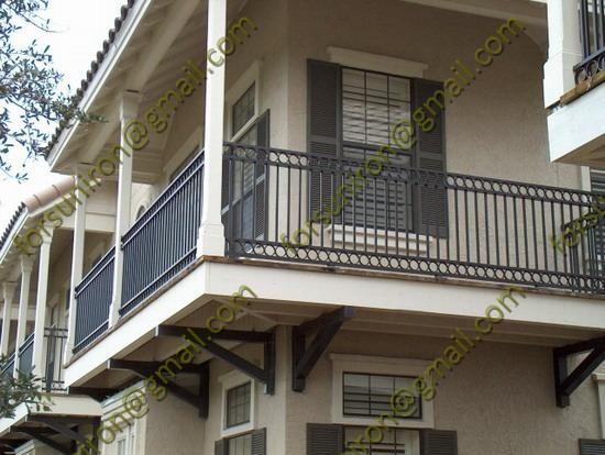 Simple design wrought iron balcony railings porch railings for Simple railing design for balcony