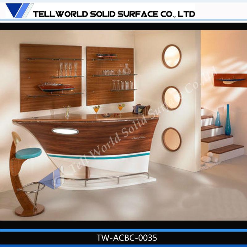 Unique Design Home Bar Counter Customized Unique Design Boat Bar  Counter/wine Bar Counter
