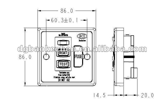 0130fpw rcd 13a socket---fuse