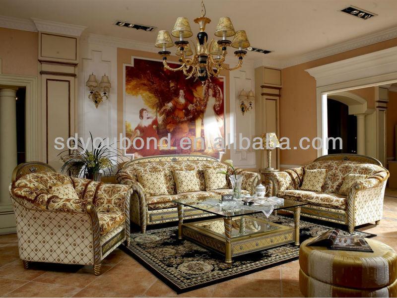 0016 Luxury Antique Royal Design Classic Sofa Arabic Living Room Home Furniture