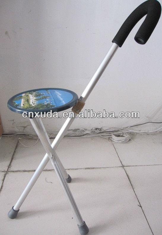 Lightweight Folding Chair Seat Metal Portable Stool Cane