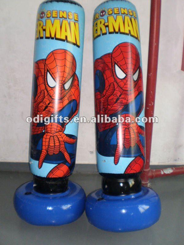 Inflatable Spiderman Punching Bag Toy Pvc Cartoon Punching