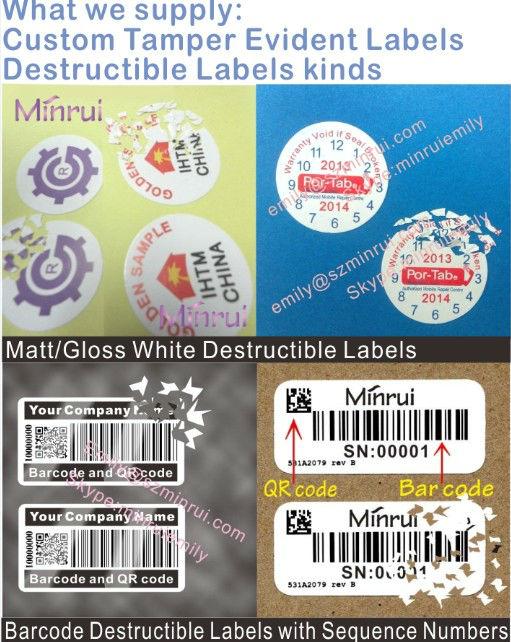Warranty destructible vinyl label custom date warranty stickerwarranty void if seal broken