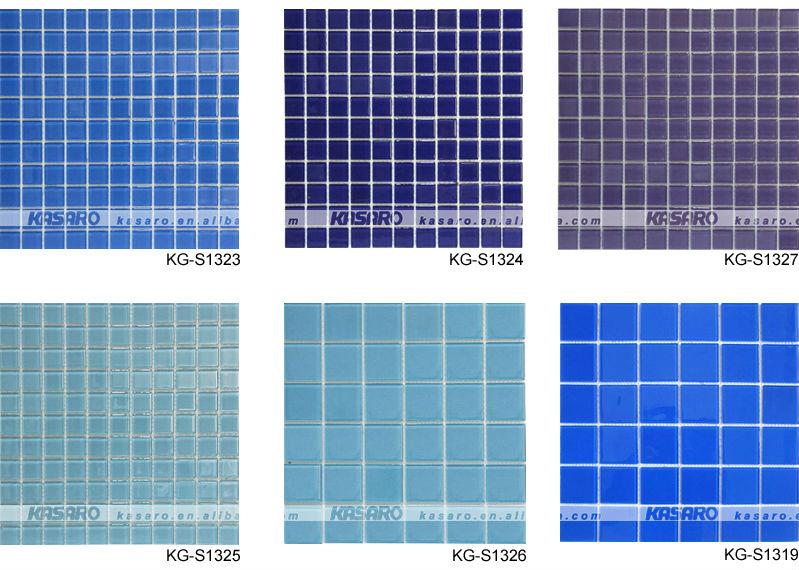 Dark Blue Pool Mosaic Tile Tiles Swimming