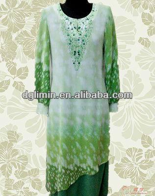 Kebaya Sarong White Green Baju Melayu Nature Fresh Style Baju ...