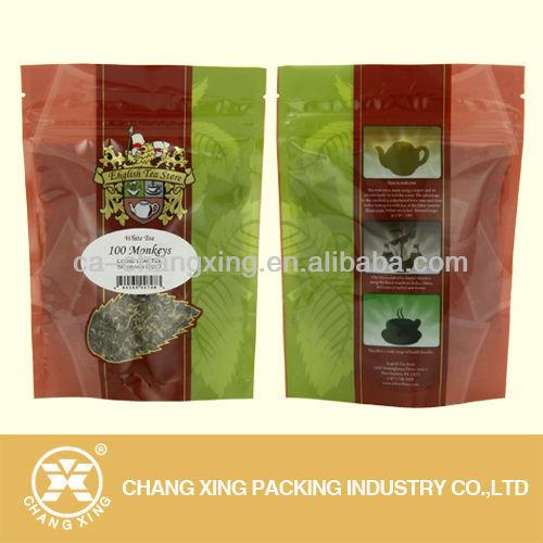 Green Tea Ziplock Bag Stand Up Sides Gusset Aluminum Foil Tea ...