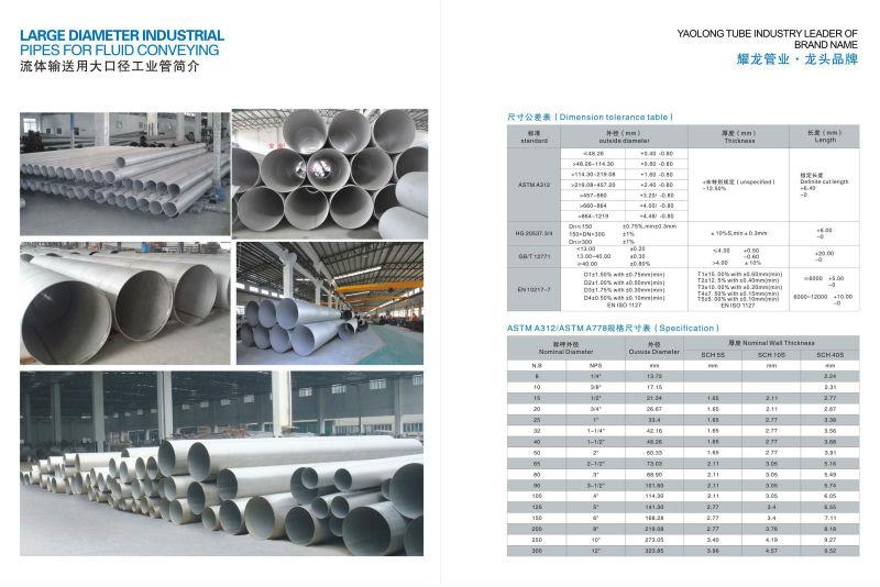 Ansi standard l large diameter heavy wall schedule
