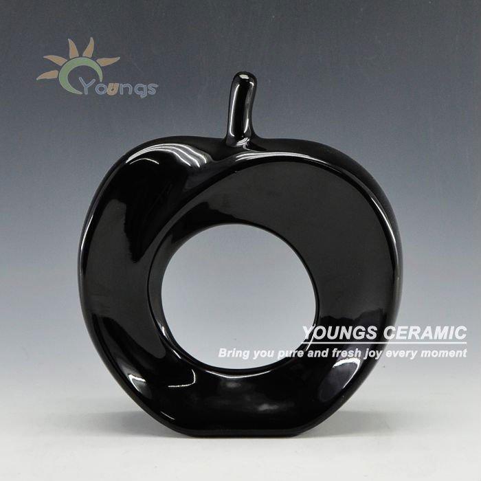 cinq couleurs forme de pomme peinte en cramique dcoration - Pomme Ceramique Pour Decoration