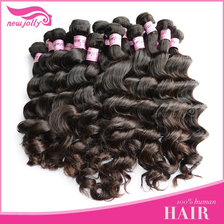 AAA quality unprocessed machine made brazilian hair weavon