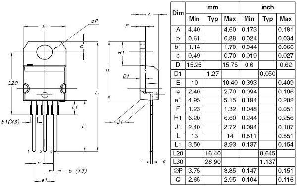 tip41c npn power amplifier transistor