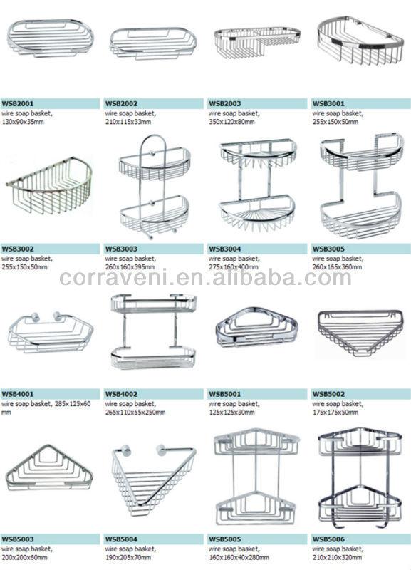 Semi Round Two Tier Bathroom Wire Soap Basket Holder Shower Caddy WSB3003