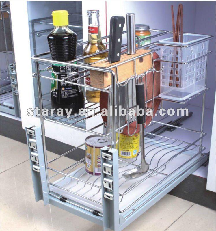 HPJD604C Kitchen Cabinet Chrome Wire Basket Drawer