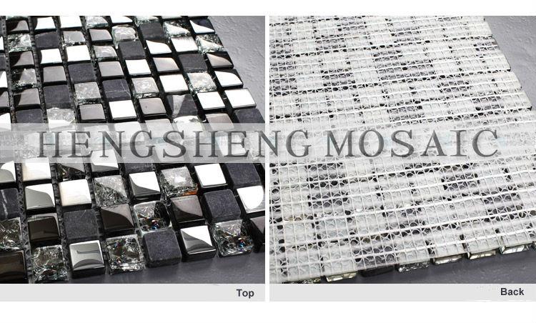 Noir et blanc couleur mosa que carreaux de mur et carreaux for Miroir western