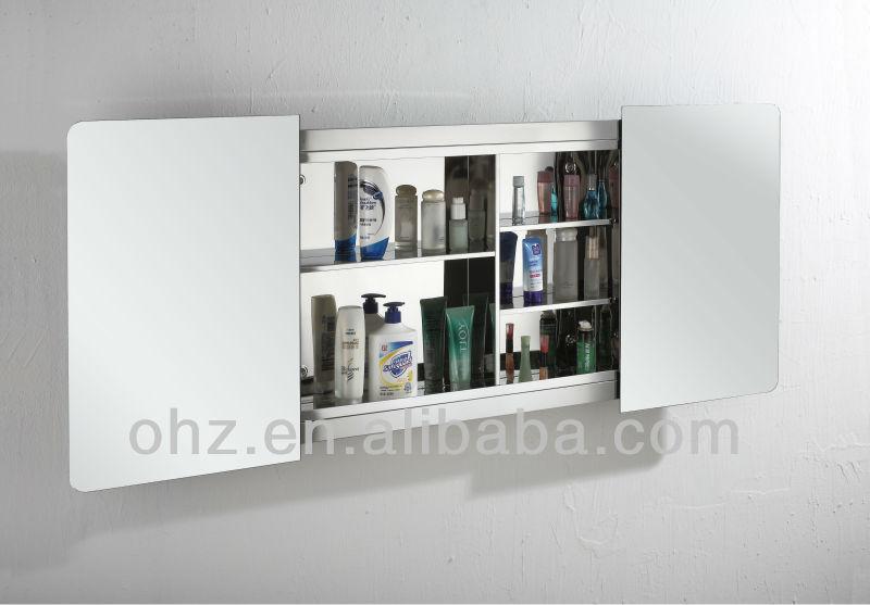 Sliding door bathroom wall cabinet