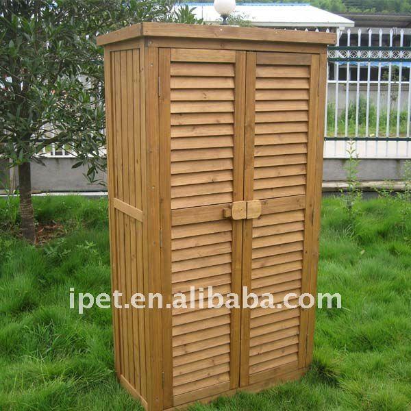 Outdoor Wood Cabinets: Premium Large Cheap Outdoor Wooden Garden Storage Cabinet
