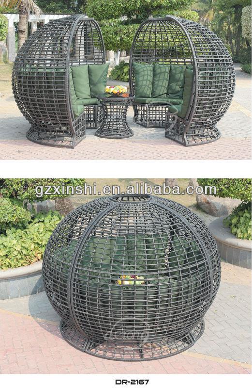 Einzigartige Form Design Terrasse Mobel Billig Rattan Sitzgruppe