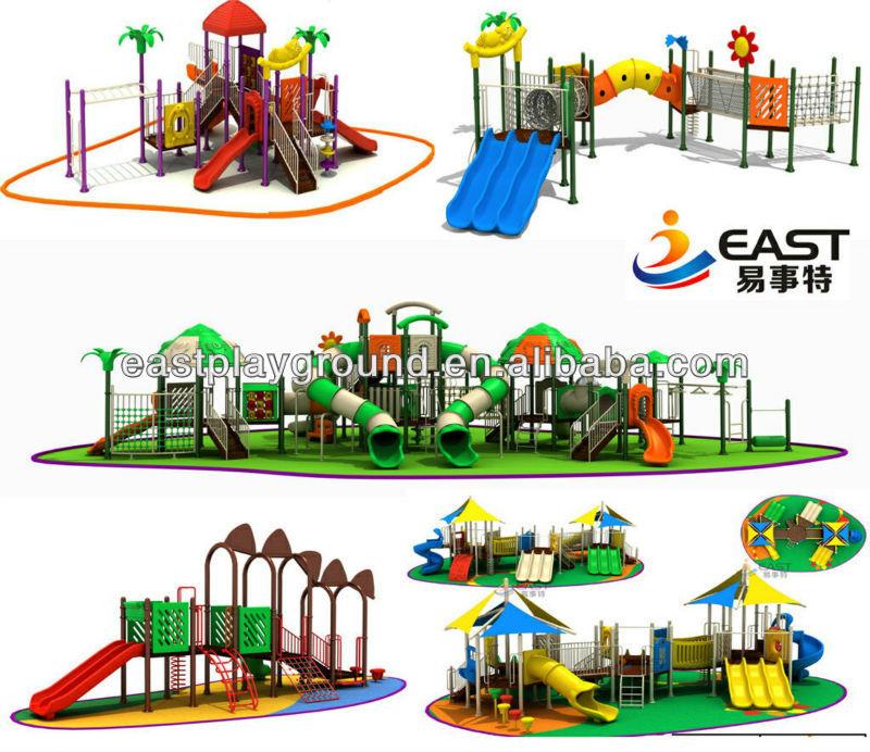 Popular Kindergarten Kids Wooden Playground Slide Outdoor Equipment