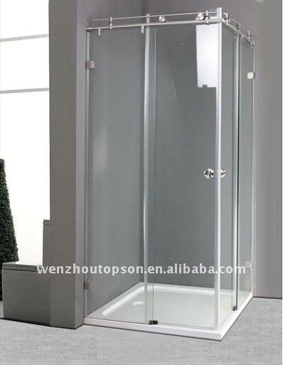 grados cuadrados de vidrio templado sin marco puerta corredera de ducha y mampara recinto