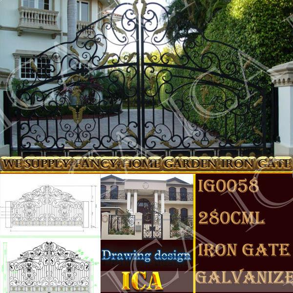 diseo moderno y muy popular puerta de hierro forjado para exterior puerta del jardn