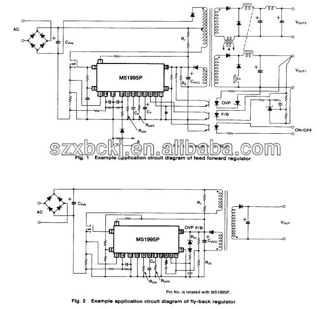 m51995p switching regulator controller ic