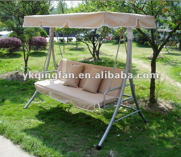 Jard n hamaca columpio con dosel buy product on - Columpio madera jardin ...