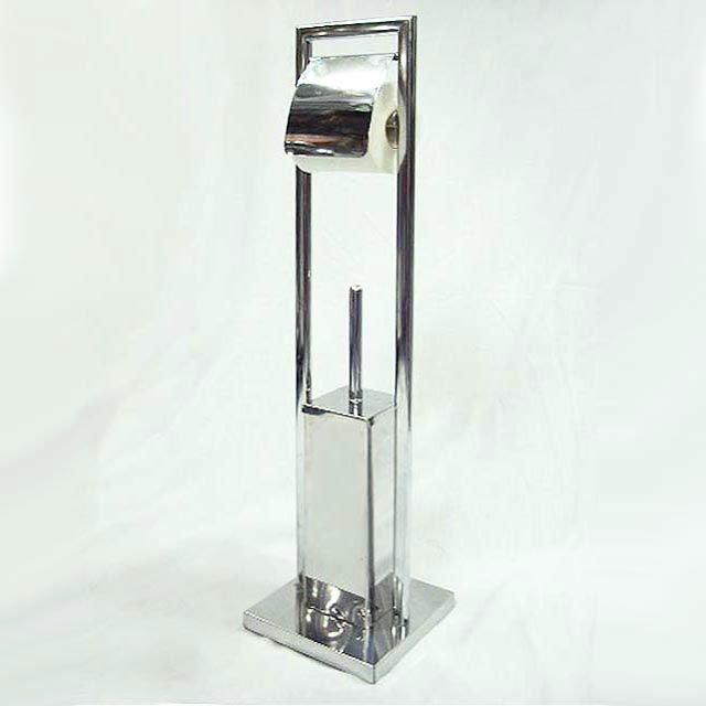 Metal Bathroom Toilet Brush And Paper Holder