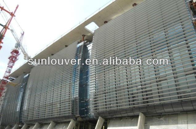Aerofoil Aluminum Sun Louver Blade | Aluminum Extrusion Section ...