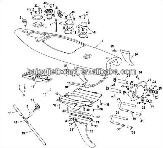 mini jet ski power surfboard     330cc power jetboard