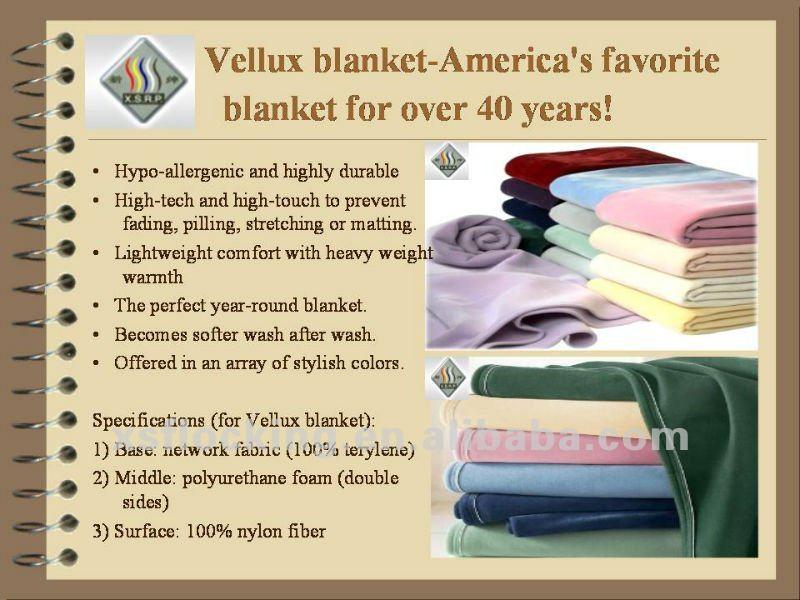 nylon flocking hotel blanket