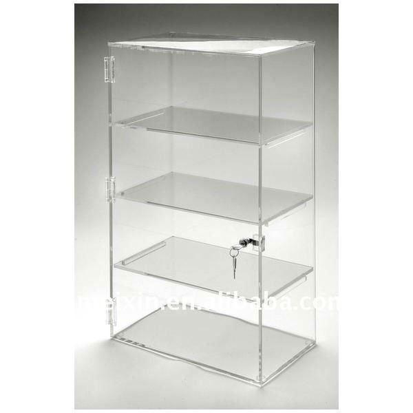 Acrylic Plastic Cabinet Display With Lock - Buy Cosmetic Display ...