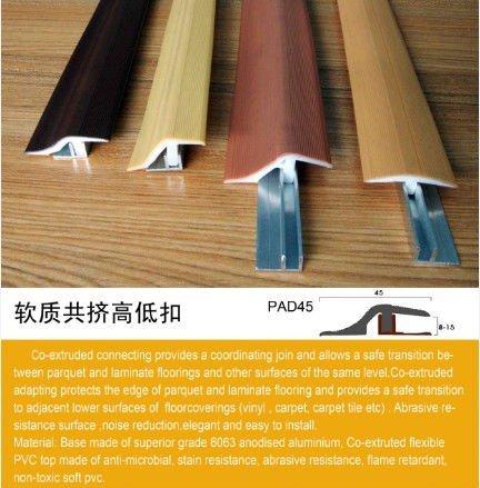 Pvc Extruded Strip Plastic Floor Reducer Profile Vinyl
