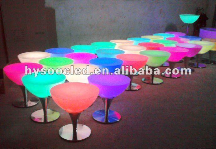 Hotel Design Light Up Tables/modern Mini Bar Table