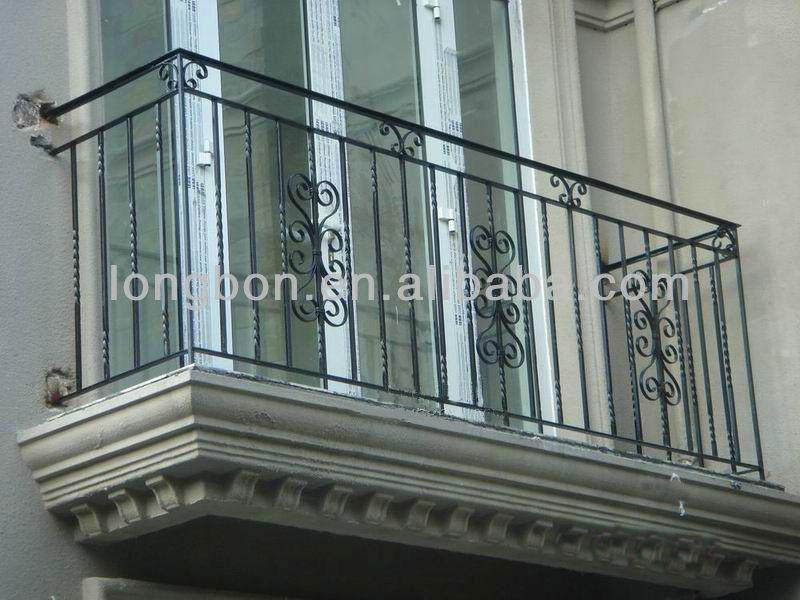 2017 China Manufacture Wrought Iron Balcony Railing Design / Iron ...