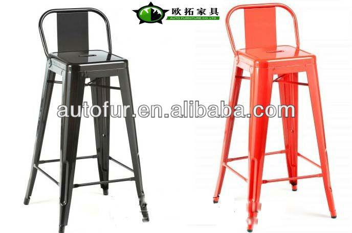 Bright colored marais low back bar stool replica metal bar - Bright colored bar stools ...