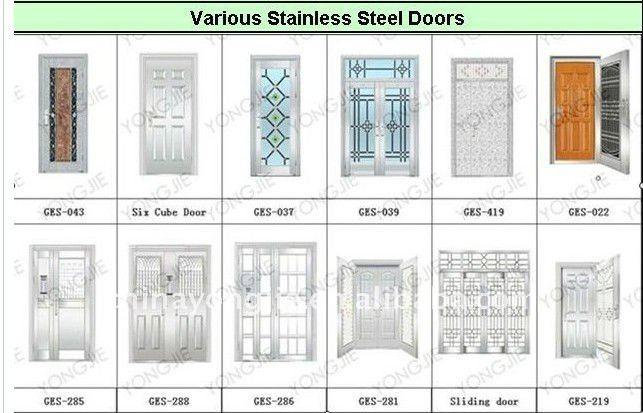 China produsts security safety door stainless steel door for Door design malaysia