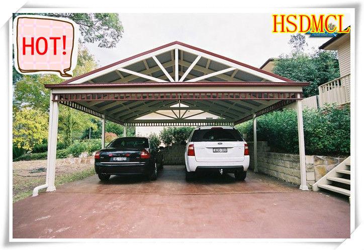 China acero estructura garajes cocheras con techo de for Cubiertas para garajes