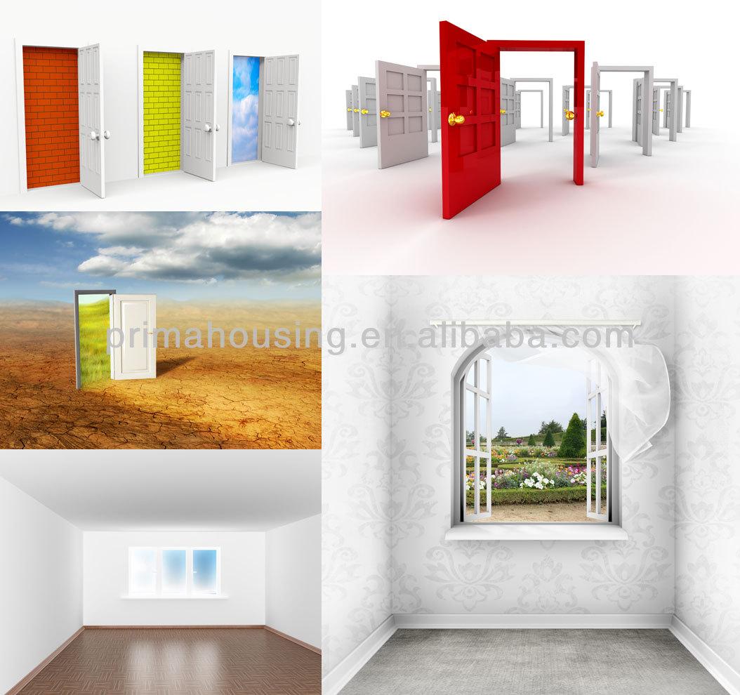 Solid Wood Bedroom Door Design/wood Veneered Door Painting Finish ...