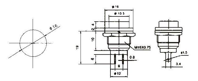 pbs-26b cgc push button foot switch