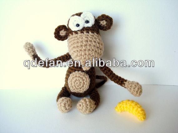 Was Ein Großes Geschenk Hand Häkeln Einzelteilehäkeln Affe