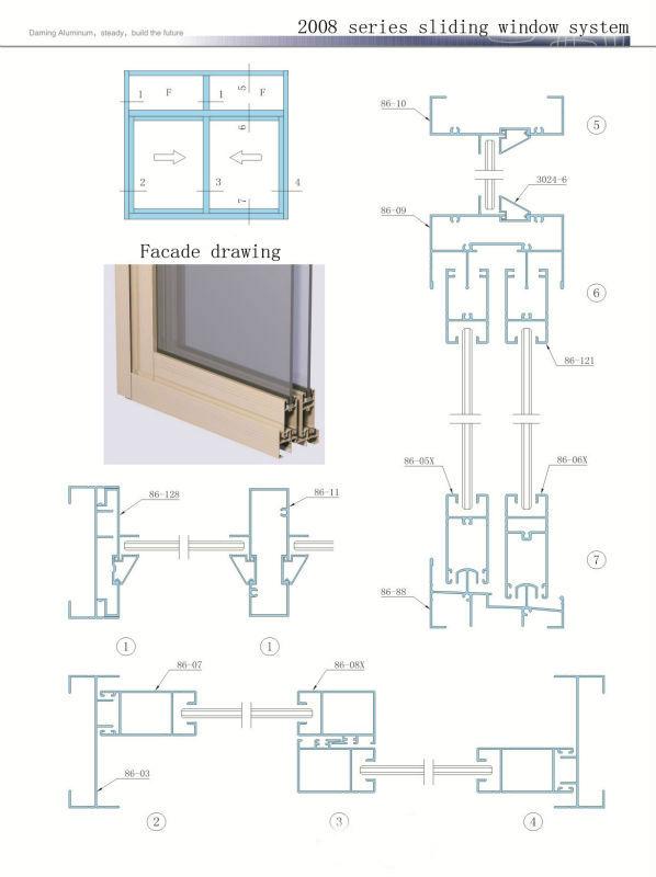 Double Glazing Aluminium Windows And Doors For View