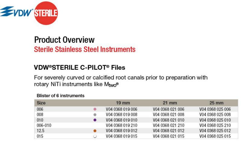 Brand Vdw C-pilot Files