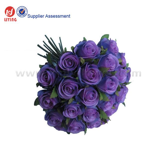 Mazzo Di Fiori Viola.10 Romantico Viola Rosa Bouquetx26 Teste Bouquet Da Sposa Di Seta
